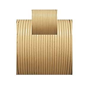 Cords&Wires® - Melocoton - 5 metros x 2mm Hilo de cuero, cordon redondo.