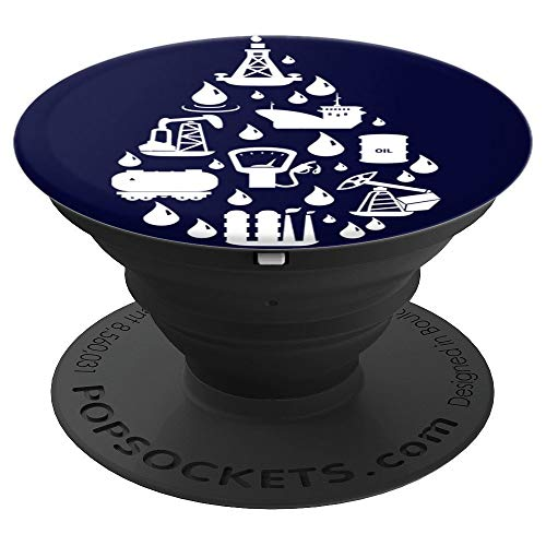 Oil run through my vein oilfield and gas gift - PopSockets Grip and Stand for Phones and ()