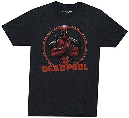 Mighty Fine Stern Deadpool T-Shirt - X-Large - Grey