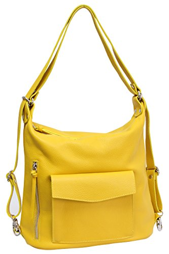 AMBRA Moda Yellow Backpack Women's AMBRA Backpack Moda Women's arCOrxdwq