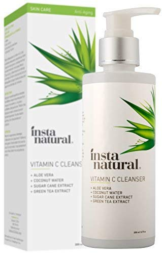 Vitamin C Facial Cleanser-Exfoliating Gel Face Wash for Women