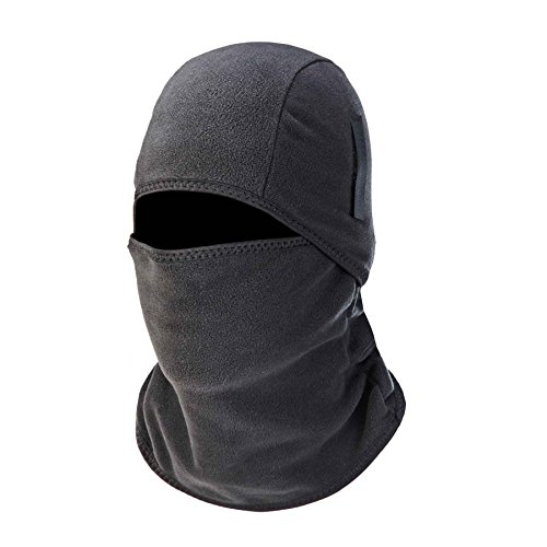 Ergodyne N-Ferno 6826 Winter Ski Mask Balaclava, Thermal Fleece, Detachable Two-Piece ()