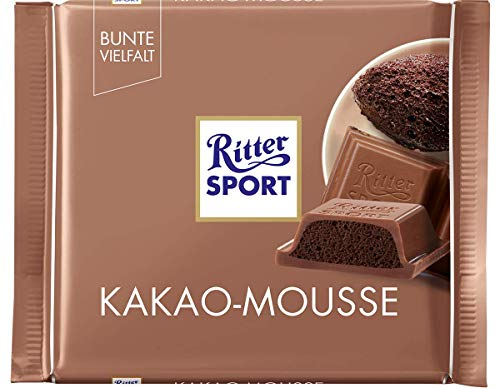Ritter Sport Kakao Cocoa Mousse Chocolate  Pack of 3