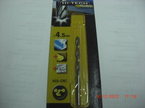 Piranha HSS-CNC X51048-QZ Hi-Tech Bullet Metal Drill Bit 4.5/mm 1