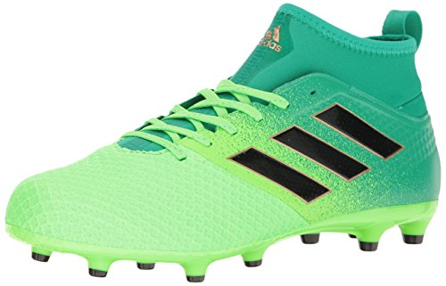 adidas Men's Ace 17.3 Primemesh Firm Ground Cleats Soccer Shoe, Solar Black/Core Green, ((8 M US)
