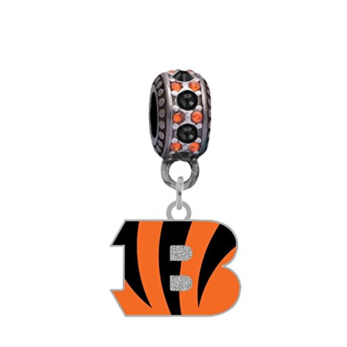 Final Touch Gifts Cincinnati Bengals Logo Charm Fits European Style Large Hole Bead Bracelets by Final Touch Gifts