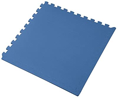"We Sell Mats 24 Square Feet (6 tiles + borders) 2' x 2' x 3/8"" Anti-Fatigue Interlocking EVA Foam Exercise Gym Flooring. Blue Available"