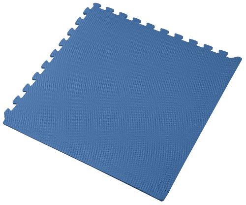 We Sell Mats 24 Square Feet ( 6 tiles + borders) Blue 2' x 2' x 3/8