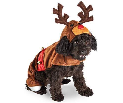 Dog Reindeer Rudolph Costume Hoodie Antler Hoodie w/Christmas