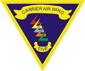 Wing Air Carrier (US Navy Carrier Air Wing Five CVW5 Decal Sticker 5.5