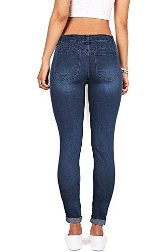 b436c47bb17 Jual Wax Denim Women s Juniors Distressed Slim Fit Stretchy Skinny ...
