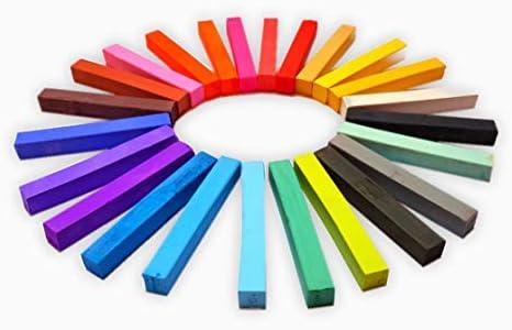 Weiches Pastell Set - 2 x 24 Farben = 48 Stück Pastellfarben, Pastellkreide, Softpastellkreide, Pastell - Ideal für Bunte und ausdrucksstarke Malerei