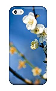 For Iphone 5/5s Tpu Phone Case Cover(bee On White Flowers)