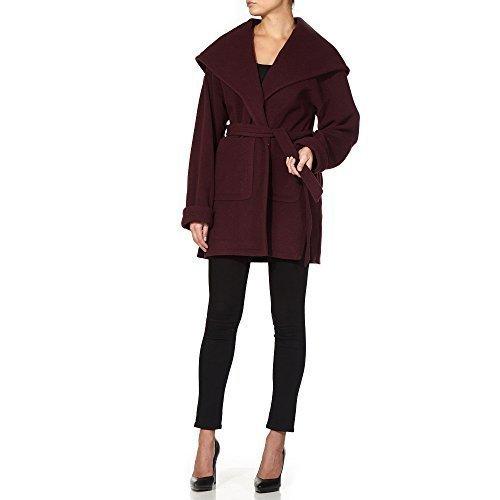 LA CREMA - Mujer Frente Abierto Chaqueta de invierno mujer lana y cachemir Grande Chal Abrigo