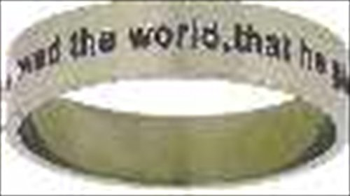 UPC 670690378095, Solid Rock Jewelry 55615 Ring John 3 16 For God So Loved Style 378 Size 9