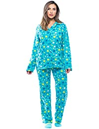 Printed Microfleece Button Front PJ Pant Set With Socks
