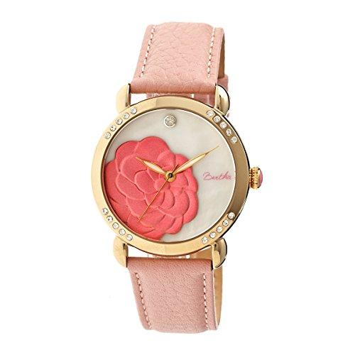 bertha-womens-bthbr4605-daphne-mop-light-pink-genuine-leather-strap-watch