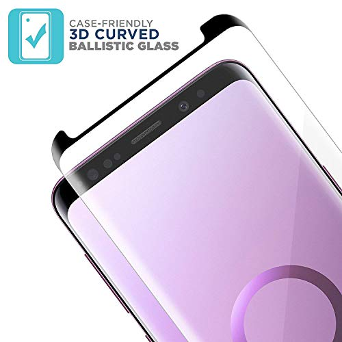 Galaxy S9 Screen Protector [2-Pack], OLINKIT [CASE-FRIENDLY] Tempered Glass Screen Protector for Samsung Galaxy S9 - Black by OLINKIT (Image #2)