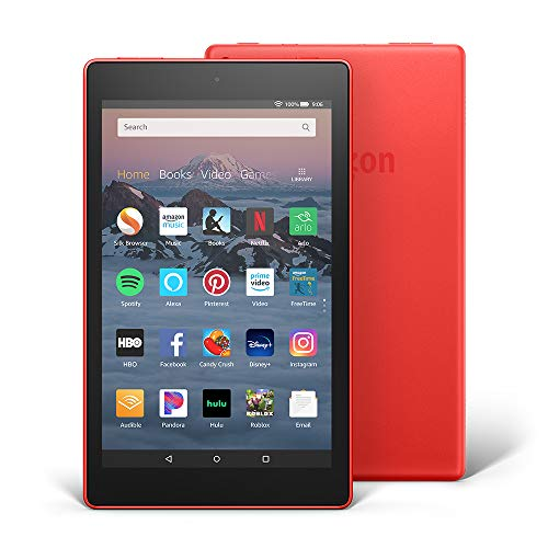 "Fire HD 8 Tablet (8"" HD Display, 16 GB) - Red (Previous Generation - 8th)"
