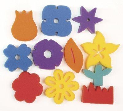 - Flower Shapes Sponges: Set of 11