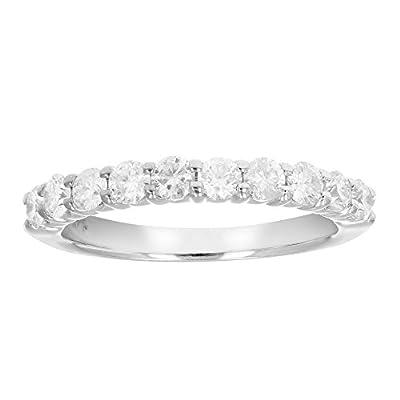 AGS Certifed I1-I2 3/4 ctw 14K Diamond Wedding Band (H-I Color)