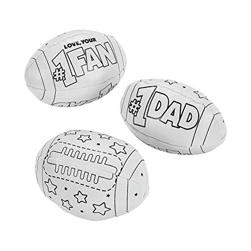 Fun Express - Cyo Father's Day Footballs for Father's Day - Craft Kits - CYO - General - Plastic - Father's Day - 12 Pieces