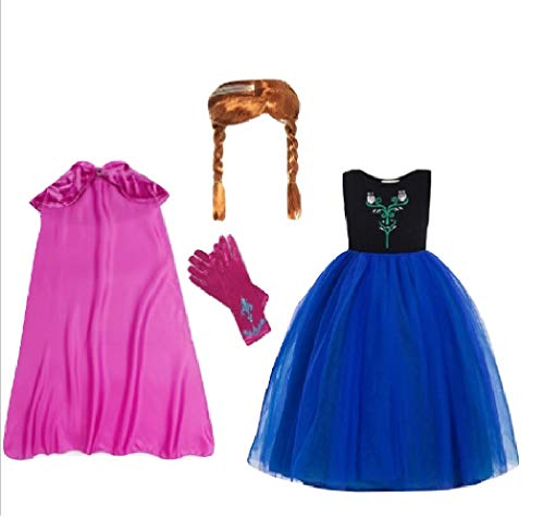 Asda Girls Halloween Costumes (Chunks of Charm Frozen Heart Sister Costume Inspired Dress/Accessoris from (3T Dress) Blue,)