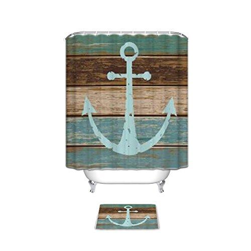 Nautical-Anchor-Rustic-Wood-Bathroom-Shower-Curtain-with-Mats-Rugs-Bath-Accessory-Set