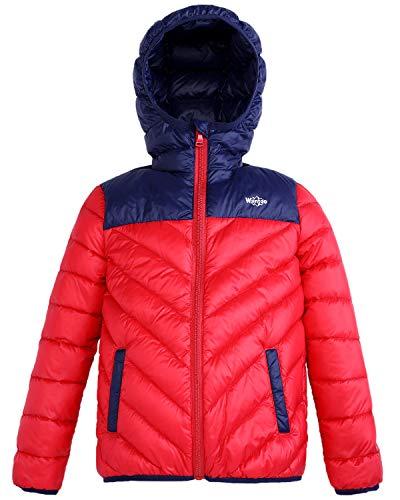 c4b5312d404a Wantdo Boys Girls Lightweight Packable Hooded Down Coat Windproof ...