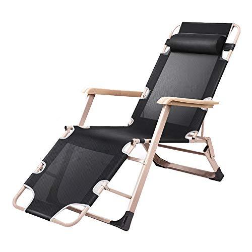 Limaomao Zero Gravity Chair Deck Chairs Garden Chair Loungers Reclining Folding Sun Bed Patio Conservatory Garden for Lounge Sunbathing (Color : Black, Size : 98cm67cm14.5cm) (Danny Deck Chair)