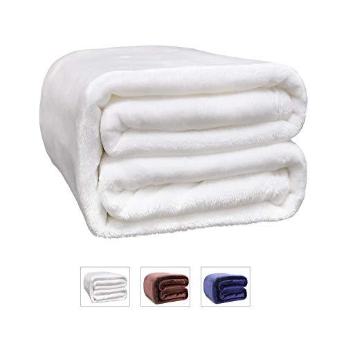 LONGFINE Fleece Throw Blanket Lightweight Microfiber Sherpa Blanket Soft Cuddle Blanket for Bed, Sofa, TV 50