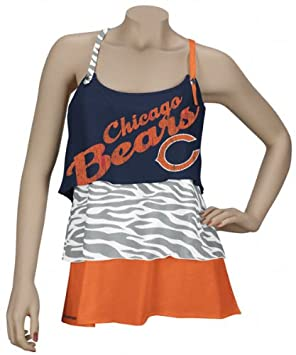 b3835532 Reebok Chicago Bears Women's Field Flirt Rah-Rah Tank Top Small, T ...