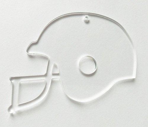 20pcs Of Clear Blank Acrylic Helmet Key Chains Acrylic Tags 3