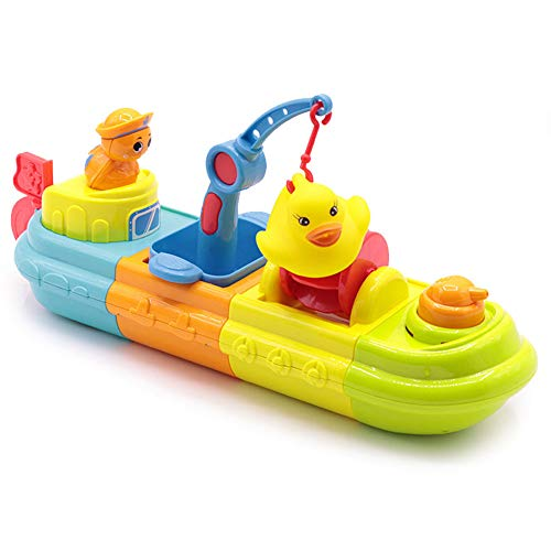 (Litand Wind up Bath Tugboat Floating Toy - Windup Boat Bath Toy Set)