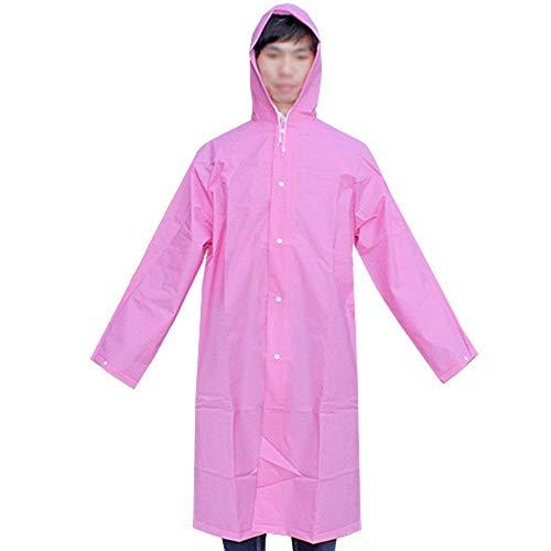 Opcionales Adultos Battercake Aire Mujeres Casuales Pink Transparente Libre Para Que Al Eva Lluvia 3 Thicken Camina Montañista Chalecos Portátil Poncho Impermeable La tUrUwqS