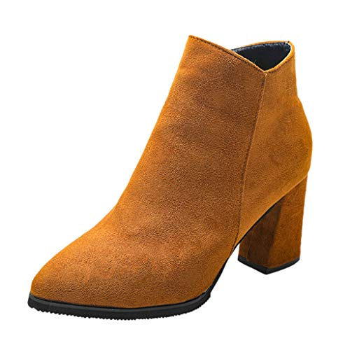 Opinionated Women's Fashion Suede Booties Heel Ankle