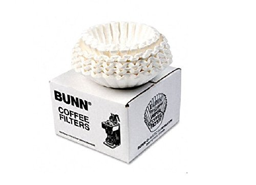 BUNN : Flat Bottom Coffee Filters, 12-Cup Size, 250 Filters/pack -:- Sold as 2 Packs of - 250 - / - Total of 500 Each