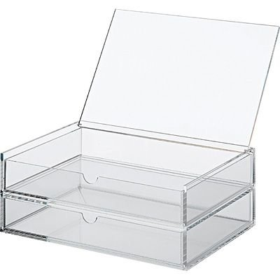 Unni Premium Quality Large Jewelry & Cosmetic Storage,Makeup Organizer Drawer,Acrylic Multipurpose Case,Category Box,Collection Stationery,2 Drawer,Overall Dimensions: 10-1/4