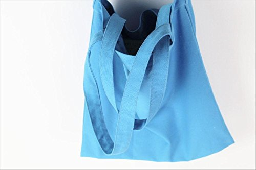 Bolso Mano Capacidad Hombro 12 De Shopper Eco protection Azul Celeste Cuerpo Gran Lienzo nbsp;apm Cruz Mujer 4wqRwYI