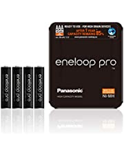 Panasonic eneloop pro, Ready-to-Use Ni-MH Akku, AAA Micro, 4er Pack, inkl. Storage Case, min. 930 mAh, 500 Ladezyklen, extrastarke Leistung & geringe Selbstentladung, wiederaufladbare Akku Batterie