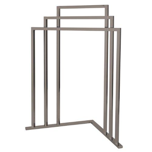 Kingston Brass SCC8278 L Shape 3-Tier Steel Construction Corner Towel Rack, Satin Nickel by Kingston Brass