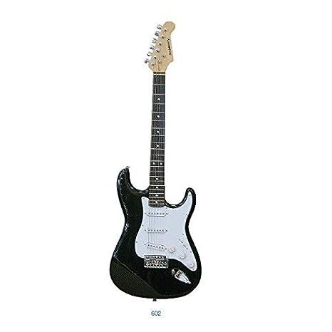 GUITARRA ELECTRICA-Academy Tipo Stratocaster 602 Negra: Amazon.es: Instrumentos musicales