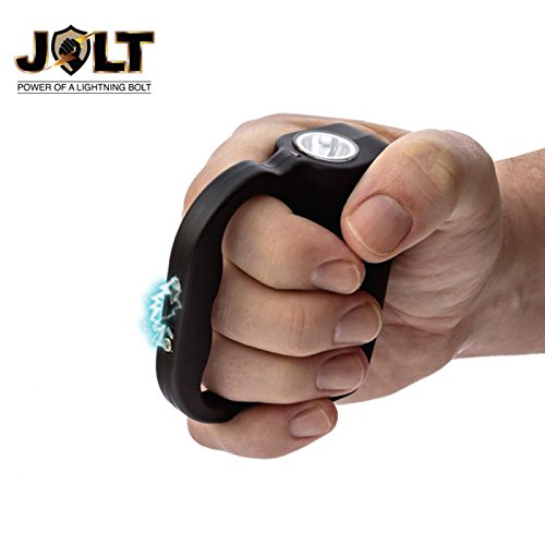Jolt Protector 60,000,000 Stun Gun with LED Flashlight - Holster, Rechargeable - Have the Power of a Lightning Bolt in the Palm of your - Knuckles Blast