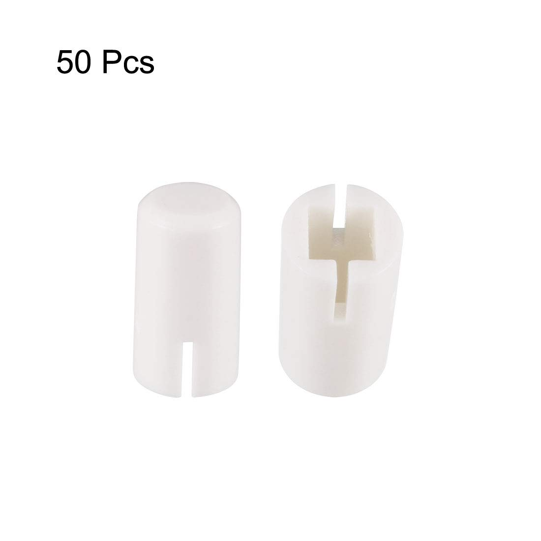 uxcell 20Pcs Plastic 9.3x5.6mm Pushbutton Tactile Switch Caps Cover Keycaps White for 6x6x7.3mm Tact Switch