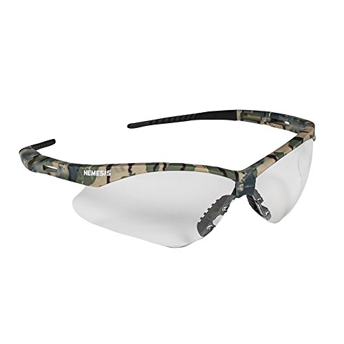 Jackson Safety 22608 V30 Nemesis Safety Glasses, Clear Anti-Fog Lenses with Camo Frame (Pack of 12)