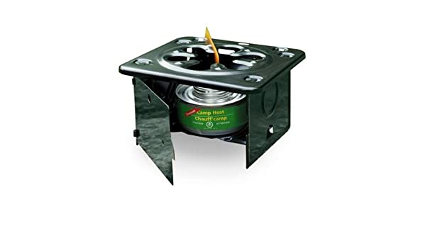 FOLDING EMERGENCY STOVE USE WITH STERNO TYPE FUEL CAMP HEAT STURDY LIGHT WARM