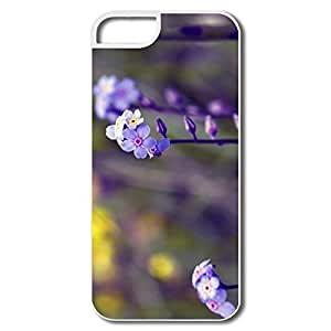 Popular Blue Small Flowers Bokeh Case For IPhone 5/5s by lolosakes