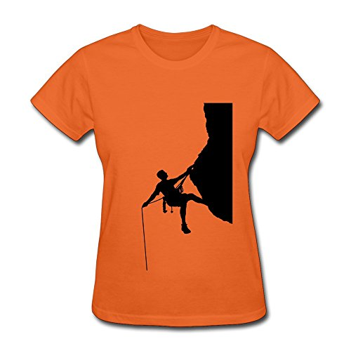 JeFF Girls Climbing T-shirt Orange Small