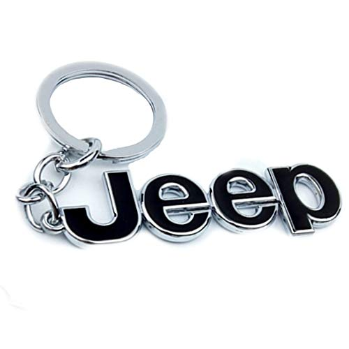 y Chain Metal Keychain Fob Ring Keychain for Jeep (Black) ()