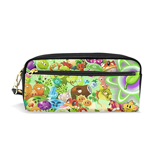 FANGHUABATHRHSQ Plants Vs Zombies 2 Unisex Kids Pencil Case Pen Box Stationery Bag Big Capacity Buggy Makeup Cosmetic Bags with Double Zippered for Girls Boys -